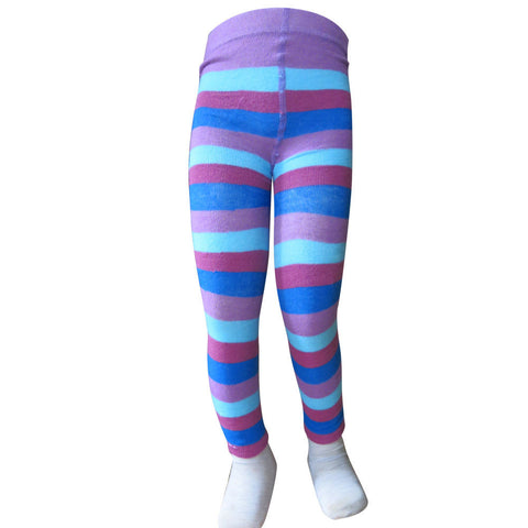 Purple & Blue Stripe Leggings - Size 12-18m - deezo the happy fashion