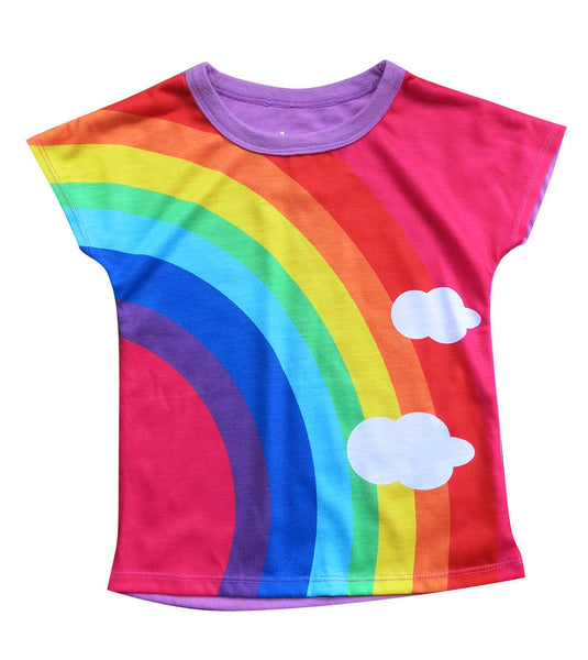 Girls Rainbow T-shirt - deezo the happy fashion