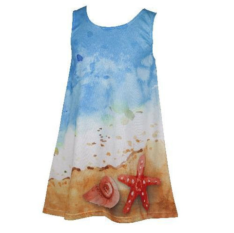 Summer Shores - Girl's blue boho dress - deezo the happy fashion