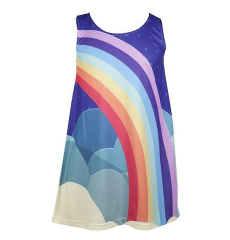 United World of Summer - Girl's rainbow dress - deezo the happy fashion