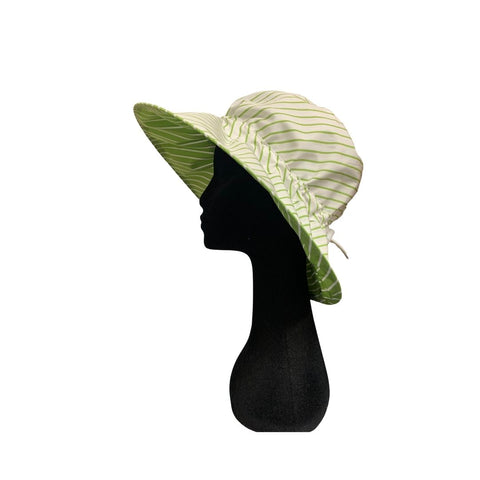 Summer Floppy Hat - Avocado Stripe