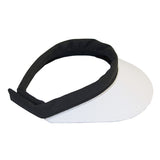 Velcro Visor || White & Black with Silver Piping