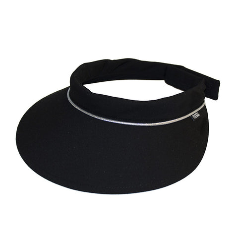 Velcro Visor || Black w Silver Piping