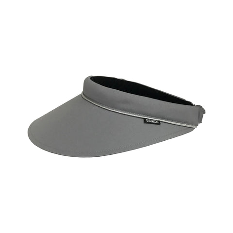 Velcro Visor II Grey w Silver Piping