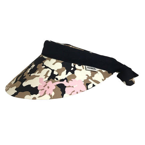 Reversible Visor || Camo Pink & School Navy