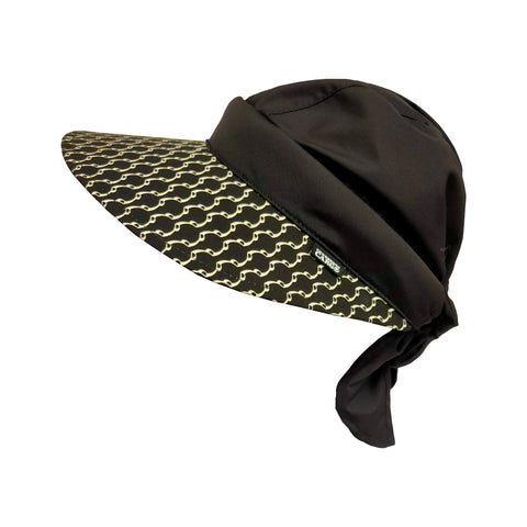 Twisty Cap II Bridle Print-Black Top