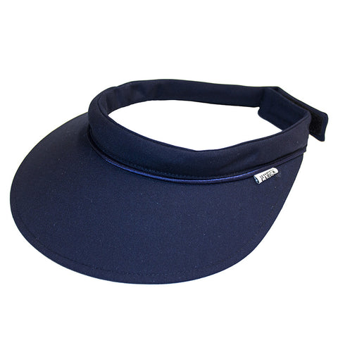 Velcro Visor || School Navy w Navy Piping