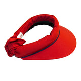 Visor || Red w Navy Piping