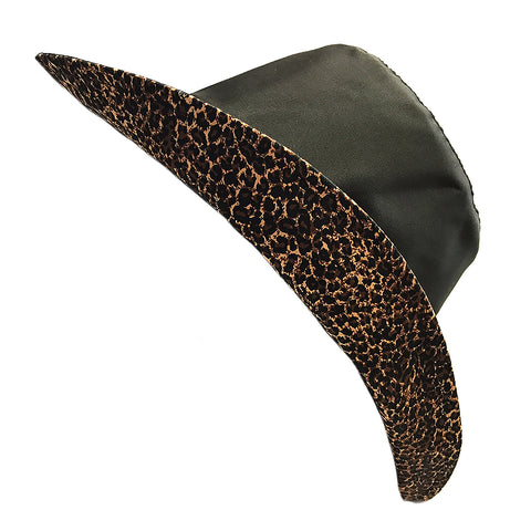 Wet Weather Bucket Hat  || Black - Leopard