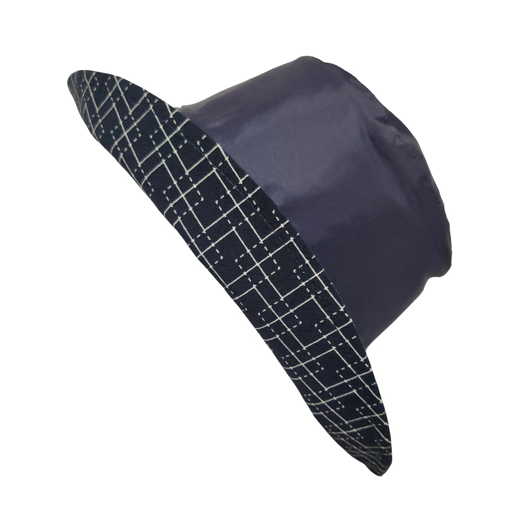 Wet Weather Bucket II Navy- Diamond Check