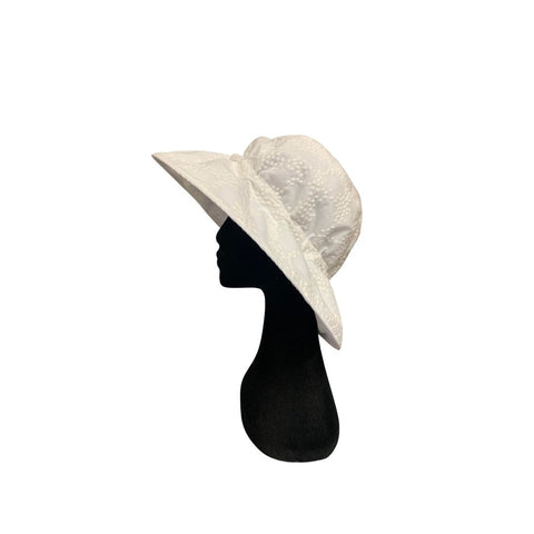 Summer Floppy Hat - Baby's Breath White