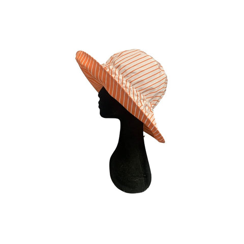 Summer Floppy Hat - Mandarin Stripe