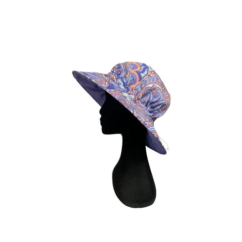 Summer Floppy Hat - Purple Paisley