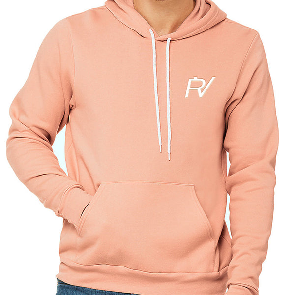 PV Embroidery Peach Hoodie