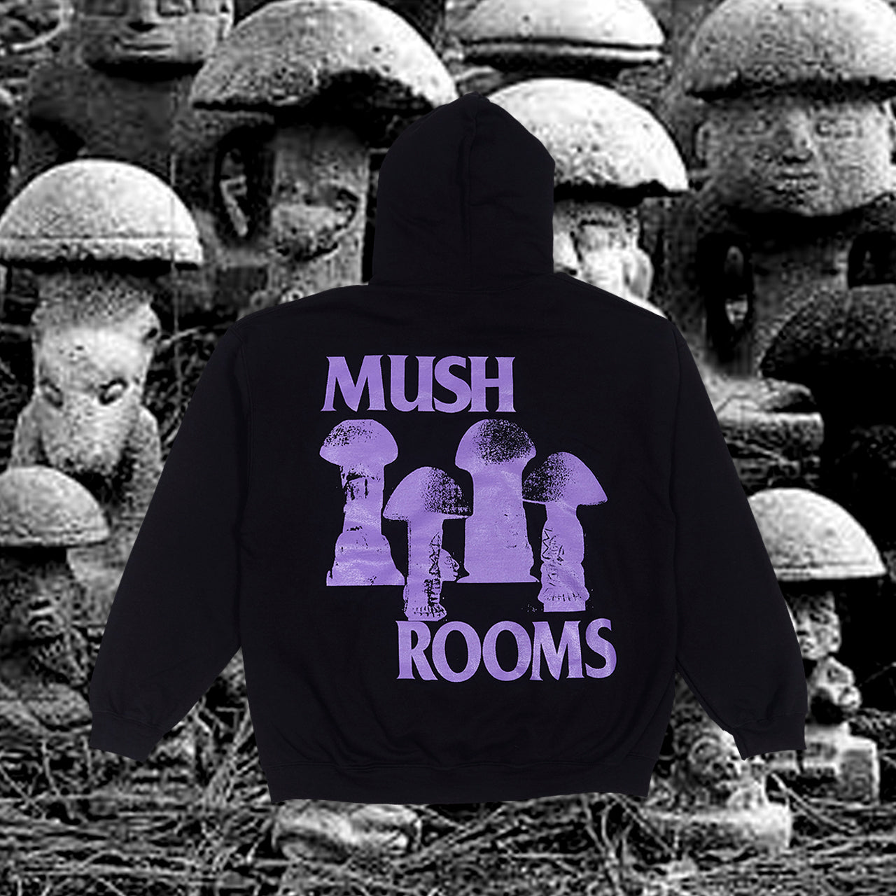 P.A.M. MUSH ROOMS HOOD (BLACK/PURPLE)