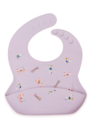 Printed silicone bib in butterfly