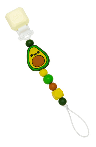 Avocado silicone pacifier clip for babies