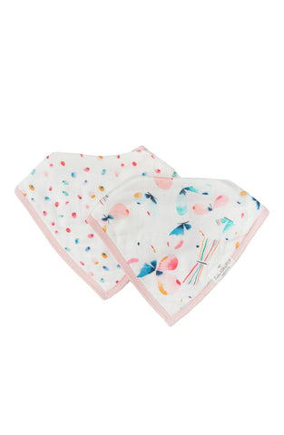 Baby bandana muslin drool bib sets in butterfly.