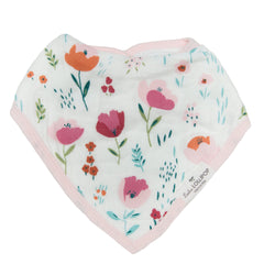 Muslin Bandana Bib Set - Rosey Bloom