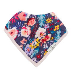 dark floral bandana drool bibs for baby girls