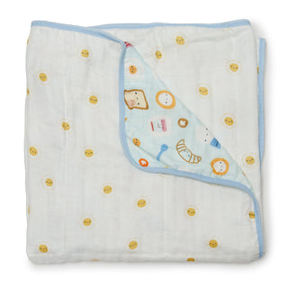 Muslin Quilt Blanket - Breakfast Blue