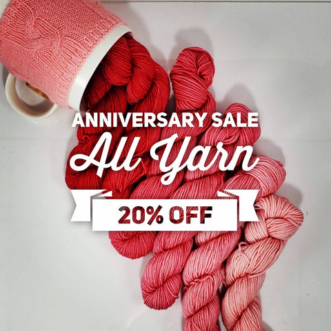 Anniversary sale all yarn 20% off