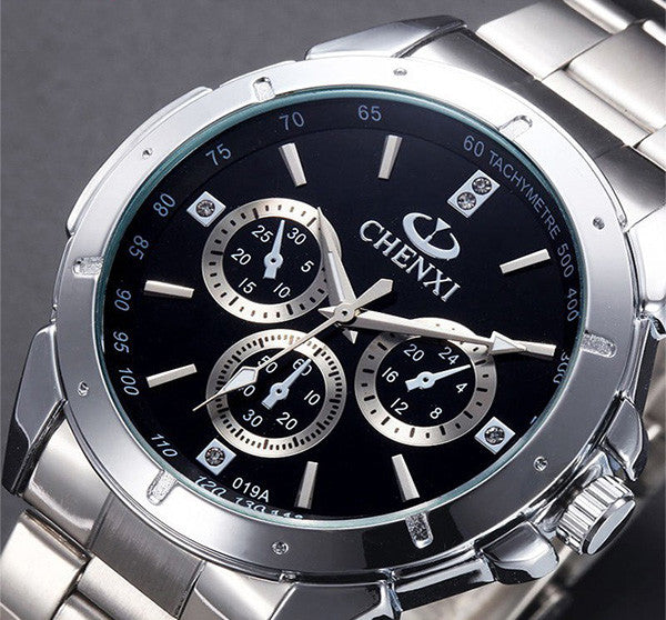 Men's Quartz Watch Stainless Steel Water Resistant