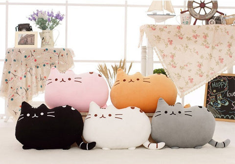 Cat Plush Toy Stuffed Animal Cushion Pillow