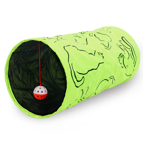 Cat Crinkly Tunnel Toy With Ball