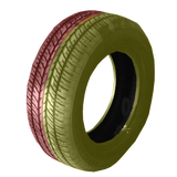 185/60R14 Highway Max - DUAL SMOKE Yellow & Red