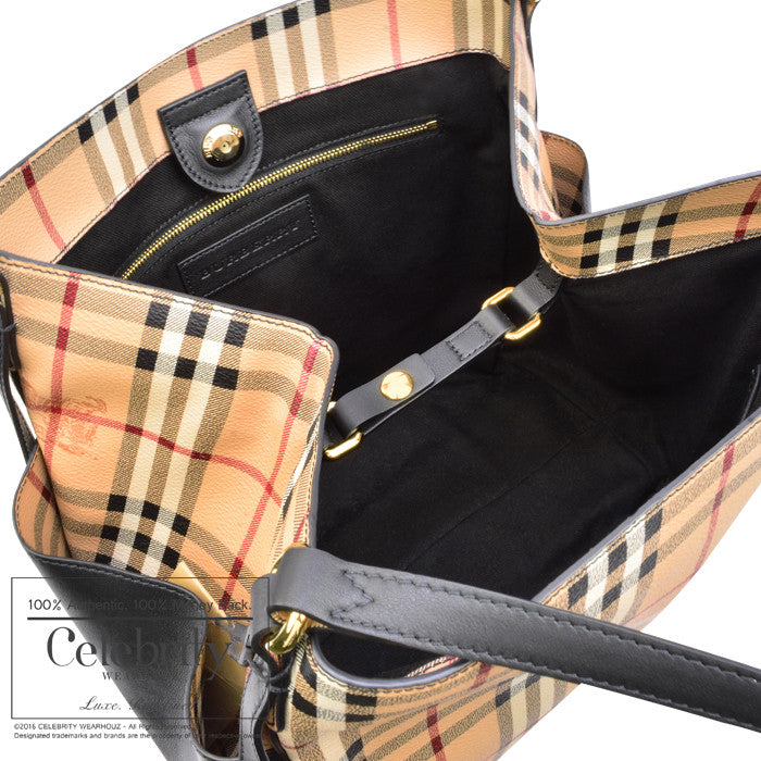 Burberry Haymarket Panels Canterbury Tote Bag Chocolate