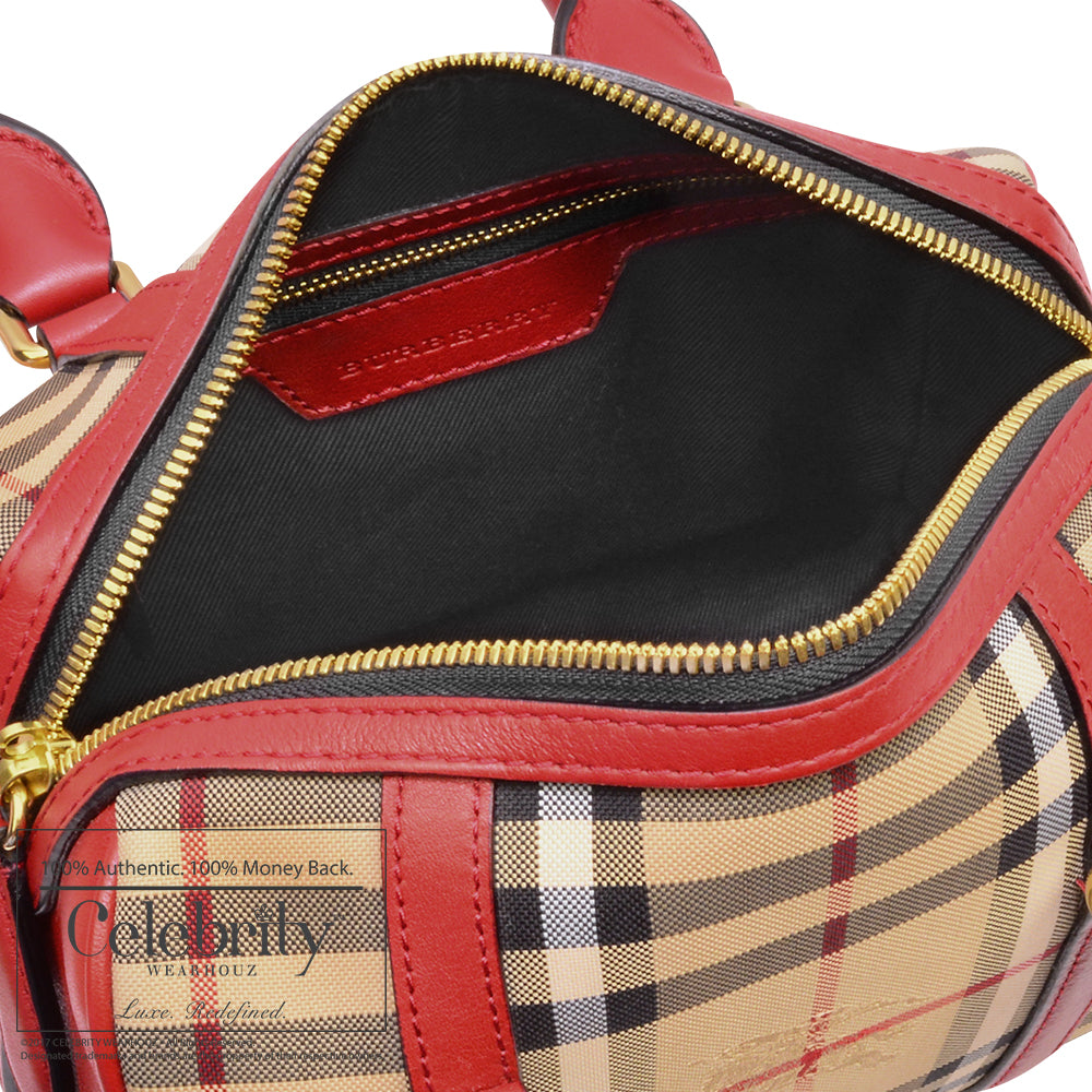 Burberry The Small Alchester In Horseferry and Leather in Parade Red