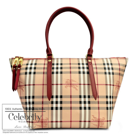burberry wallet sale outlet mmy2  Burberry Medium Haymarket Salisbury Tote Red