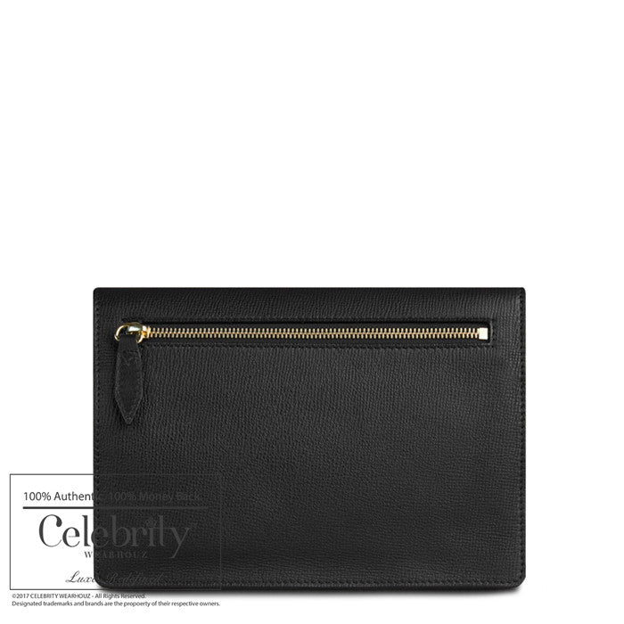 Burberry House Check Leather Small Macken Crossbody Black