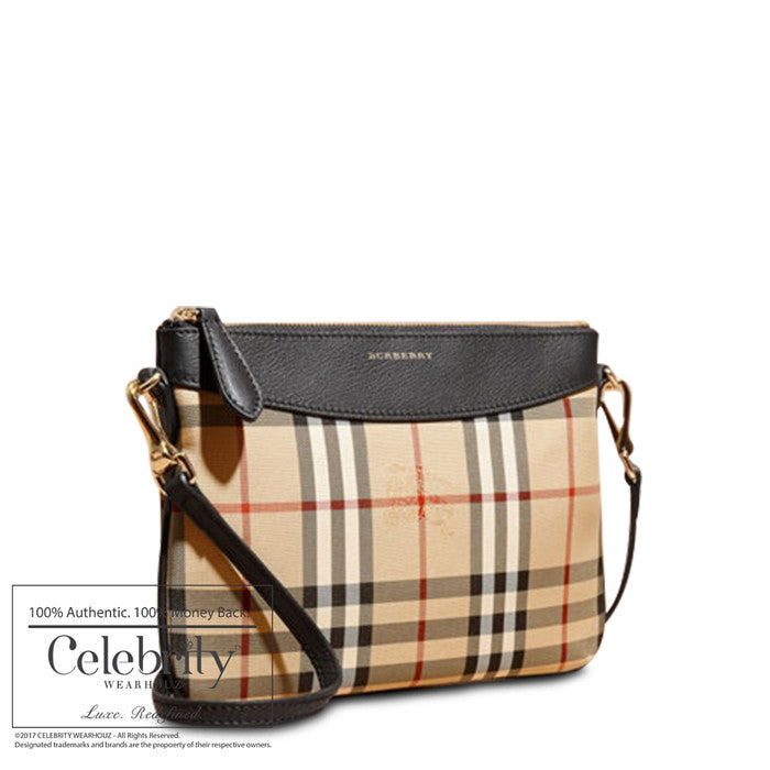 Burberry Horseferry Check Peytonwristlet Black