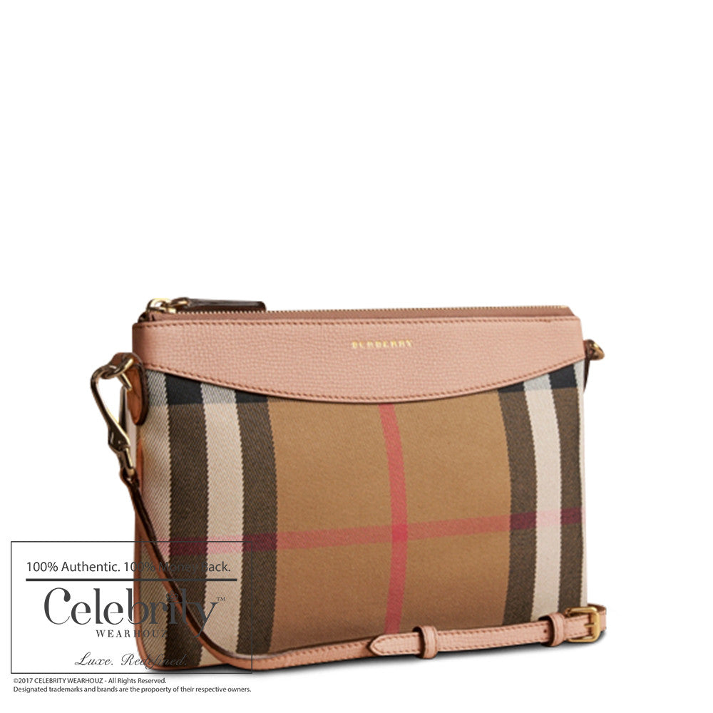 Burberry Horseferry Check Peytonwristlet in Pale Orchid