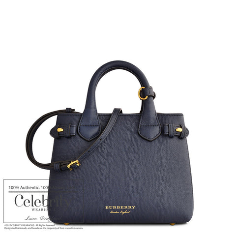 Gucci Web Leather Boston Bag Navy