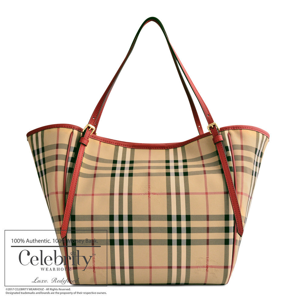 Burberry Small Canter in Horseferry Check in Parade Red