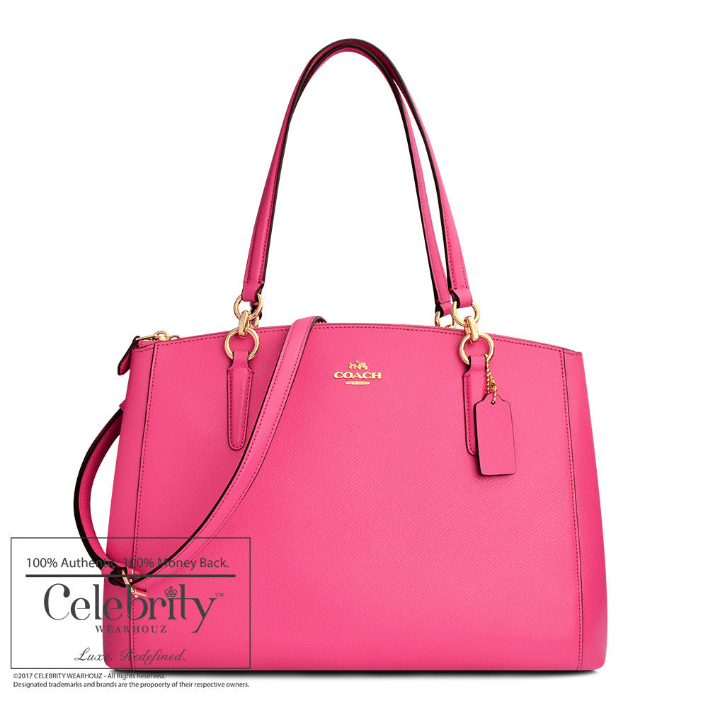Coach Christie Carryall in Crossgrain Leather in Gold Dahlia