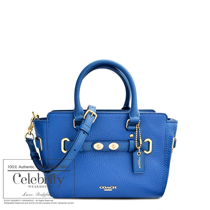 Coach Mini Blake Carryall in Bubble Leather in Gold Bright Mineral