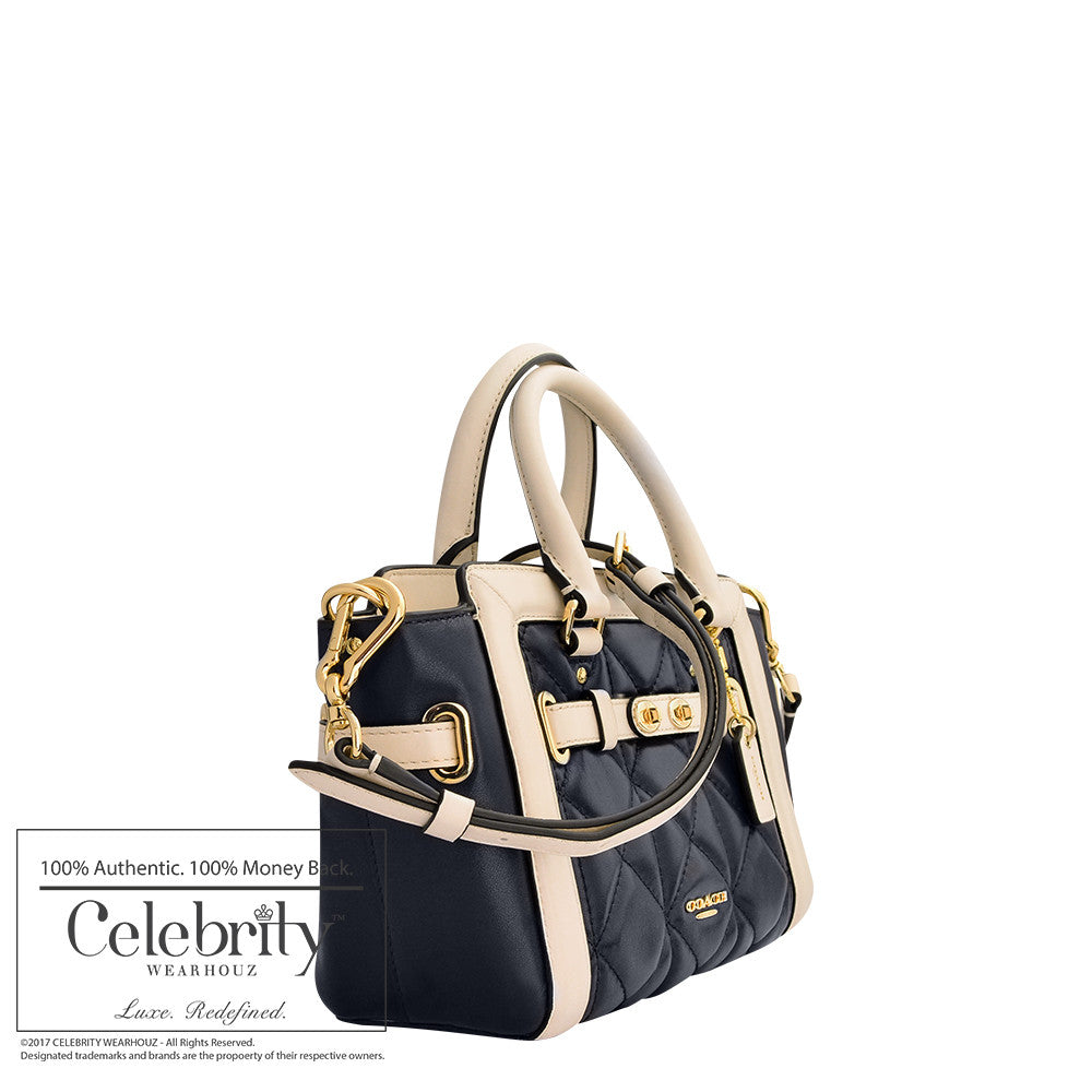 Coach Mini Blake Carryall in Quilted Colorblock Leather