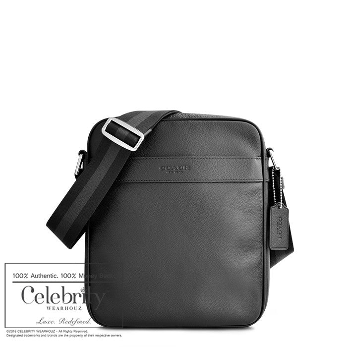 Coach Charles Flight Bag in Smooth Leather in Black
