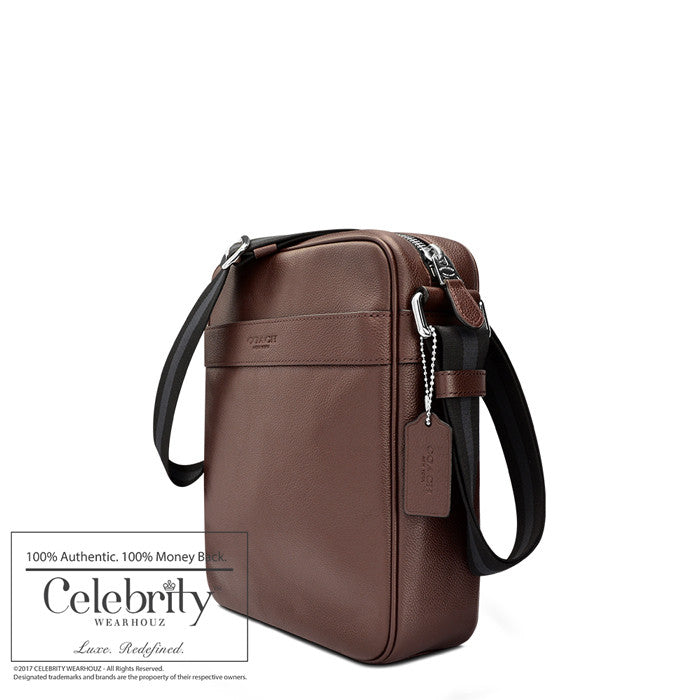 Coach Charles Flight Bag in Smooth Leather in Mahogany