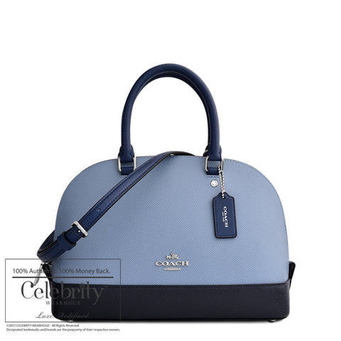 Prada Vitello Phenix Leather Convertible Bag Cobalto