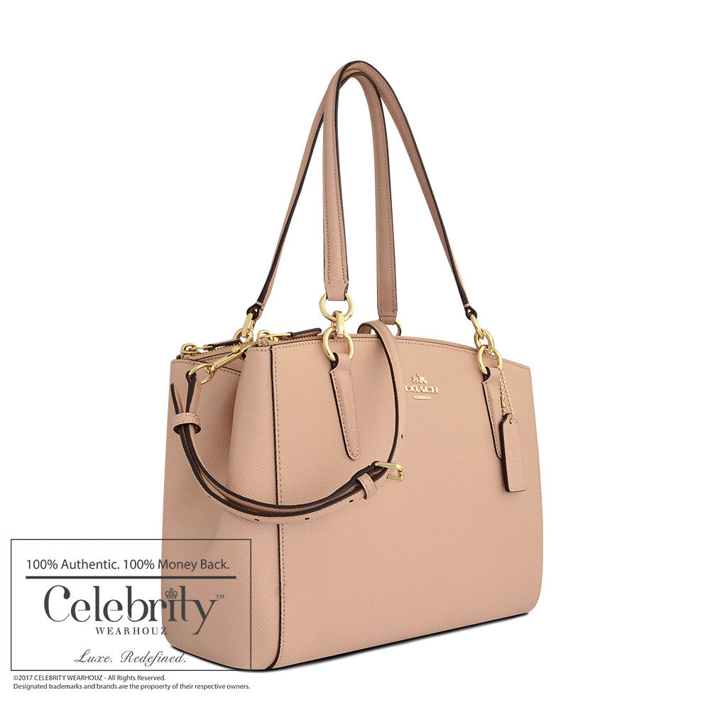 Coach Stanton Carryall in Crossgrain Leather in Imitation Gold Beachwood