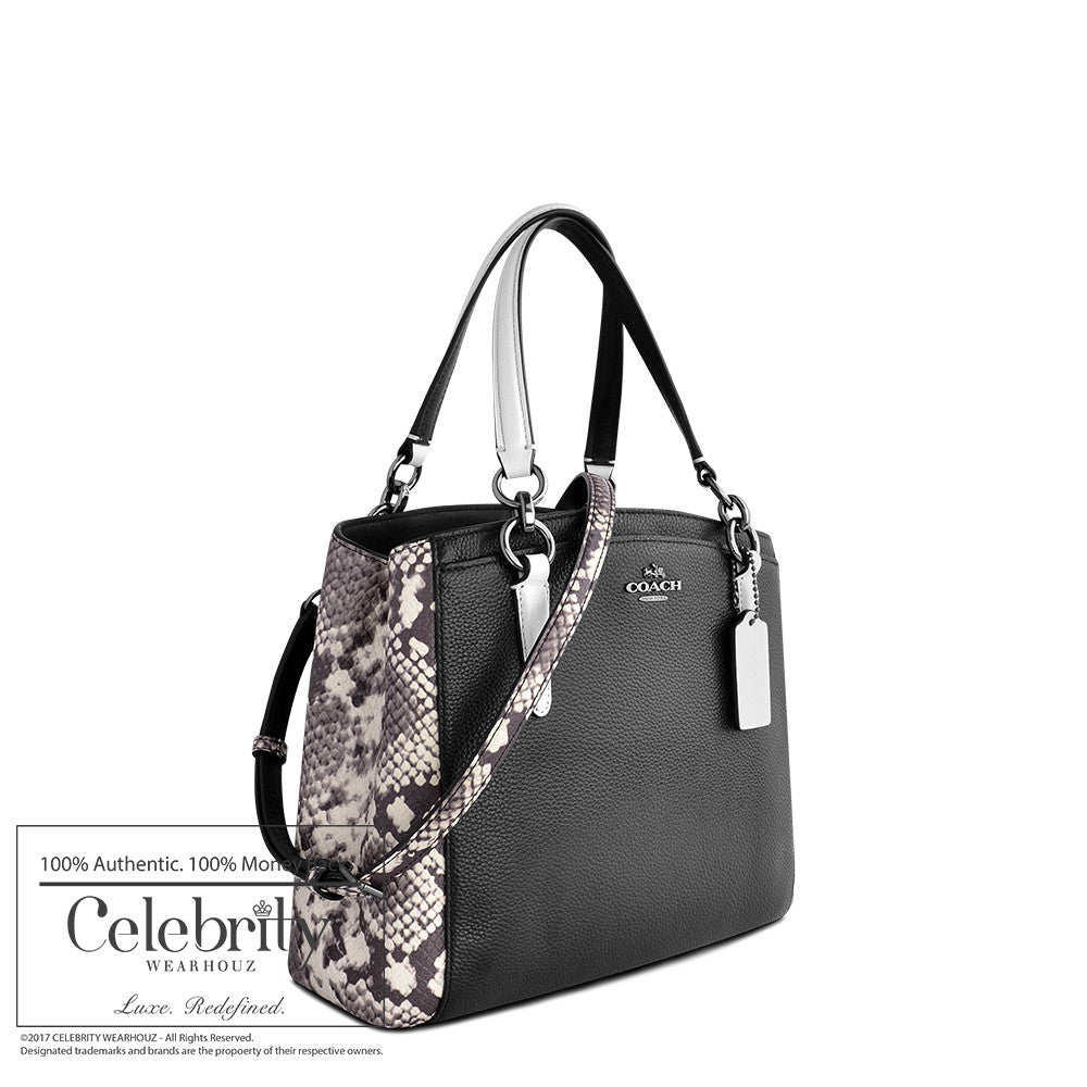 Coach Minetta Crossbody with Snake Emobossed Leather