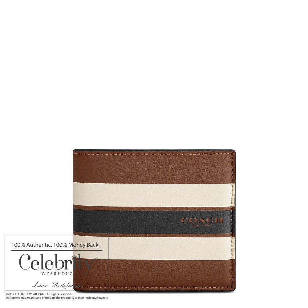 Coach Compact ID Wallet in Varsity Leather