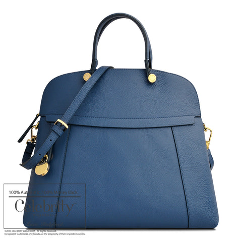 Prada Shopping Soft Calf Leather in Bluette