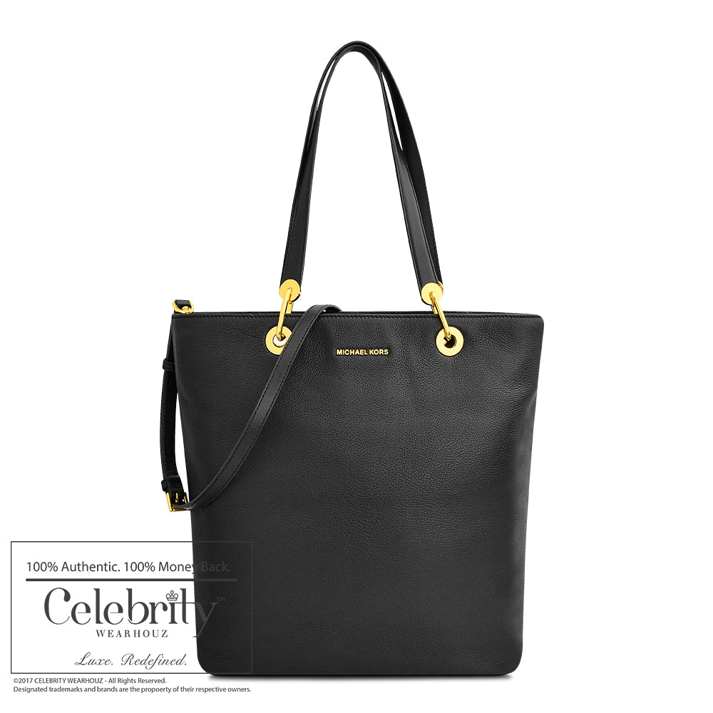 Michael Kors Raven Large Tote Leather in Black