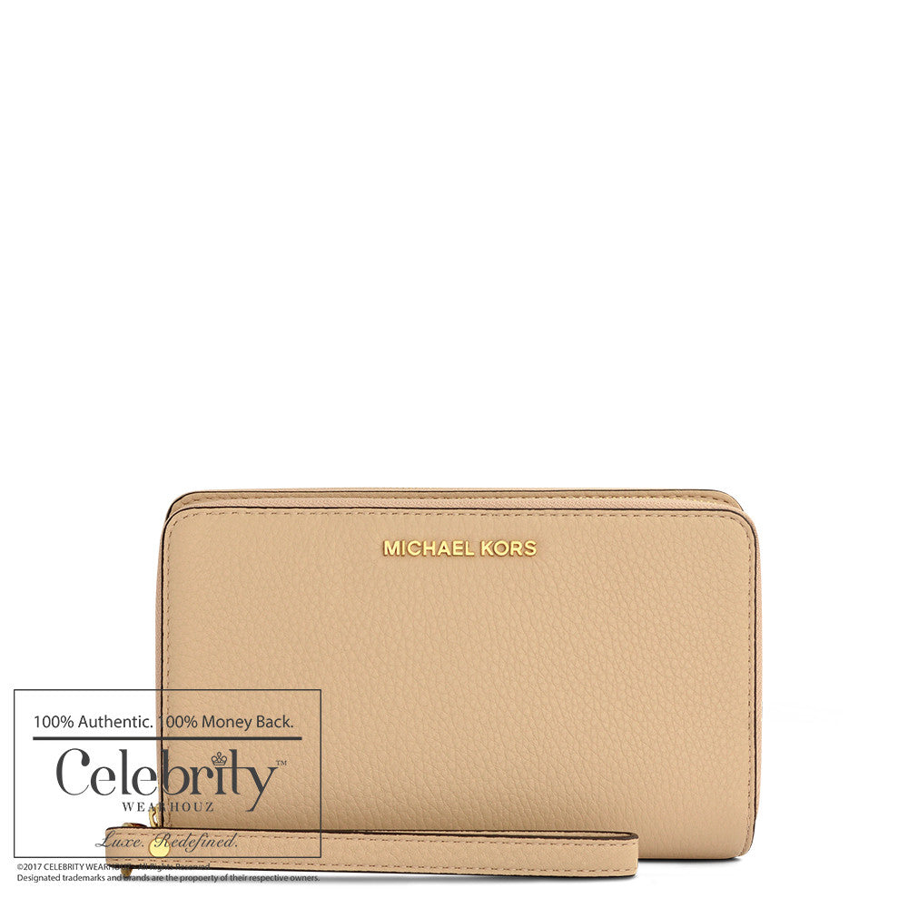 Michael Kors Adele Large Flat Phone Wallet in Oyster